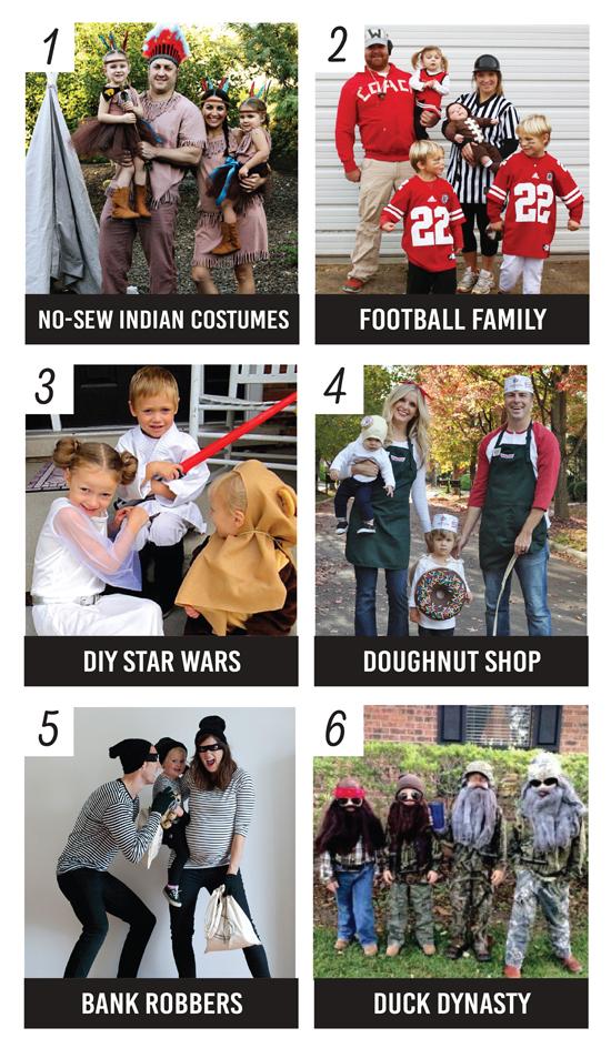 Ideas para disfrazarse en familia. Encontrado en Pinterest