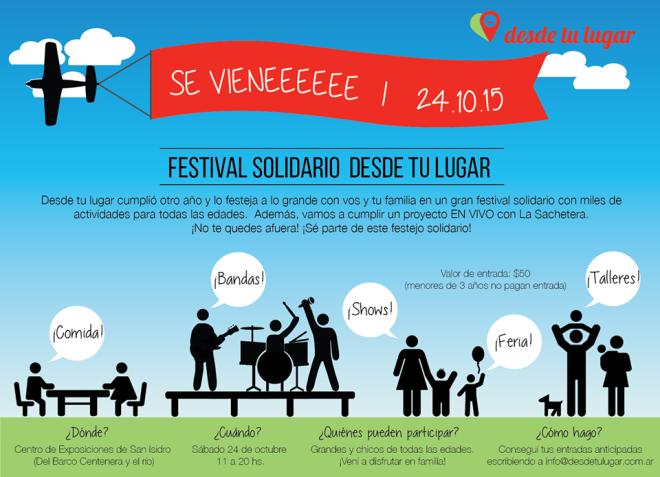 Flyer Invitación festival